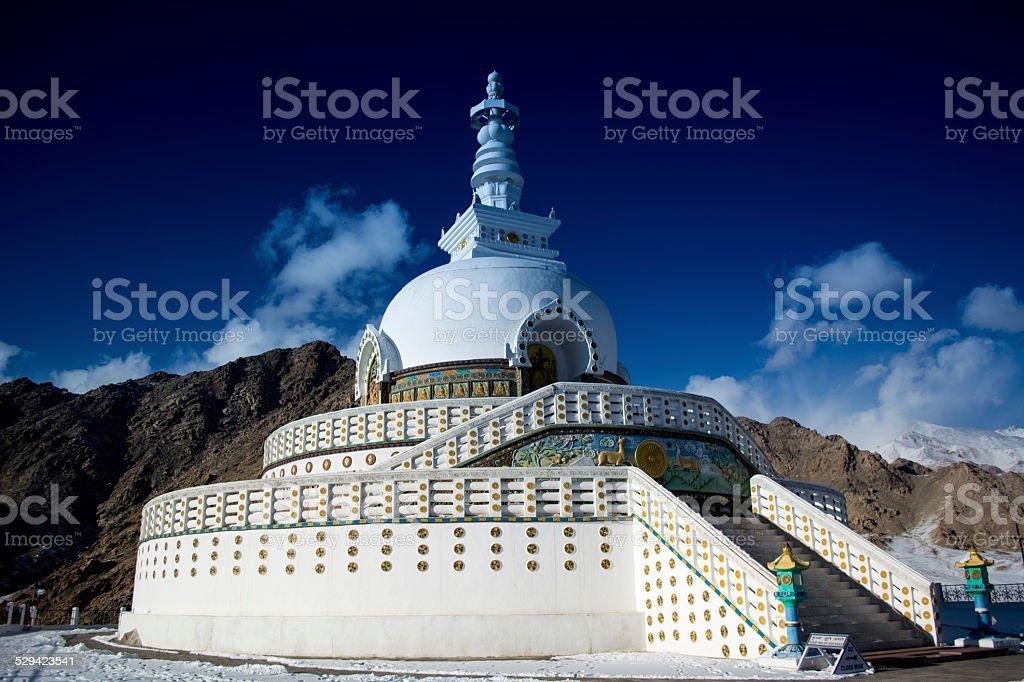 Shanti Stupa stock photo