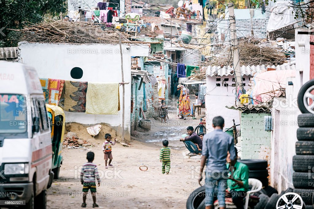 Shanty town, Delhi stock photo