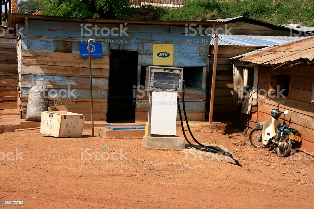 Shanty Town in Kampala, Uganda - The Pearl of Africa stock photo