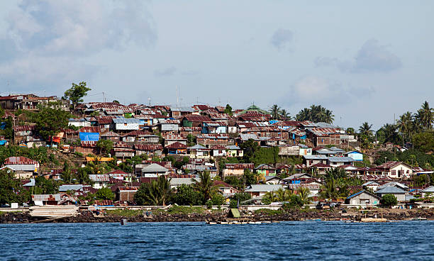 Shanty town in North Sulawesi, Indonesia.