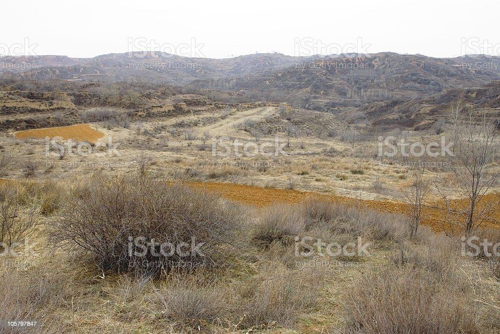 Shanxi Loess Plateau Mountain stock photo