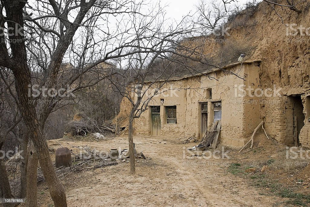 Shanxi Loess Plateau Yaodong stock photo