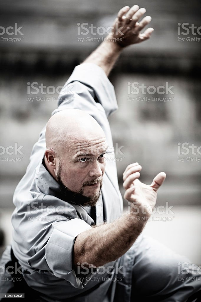 Shaolin monk royalty-free stock photo