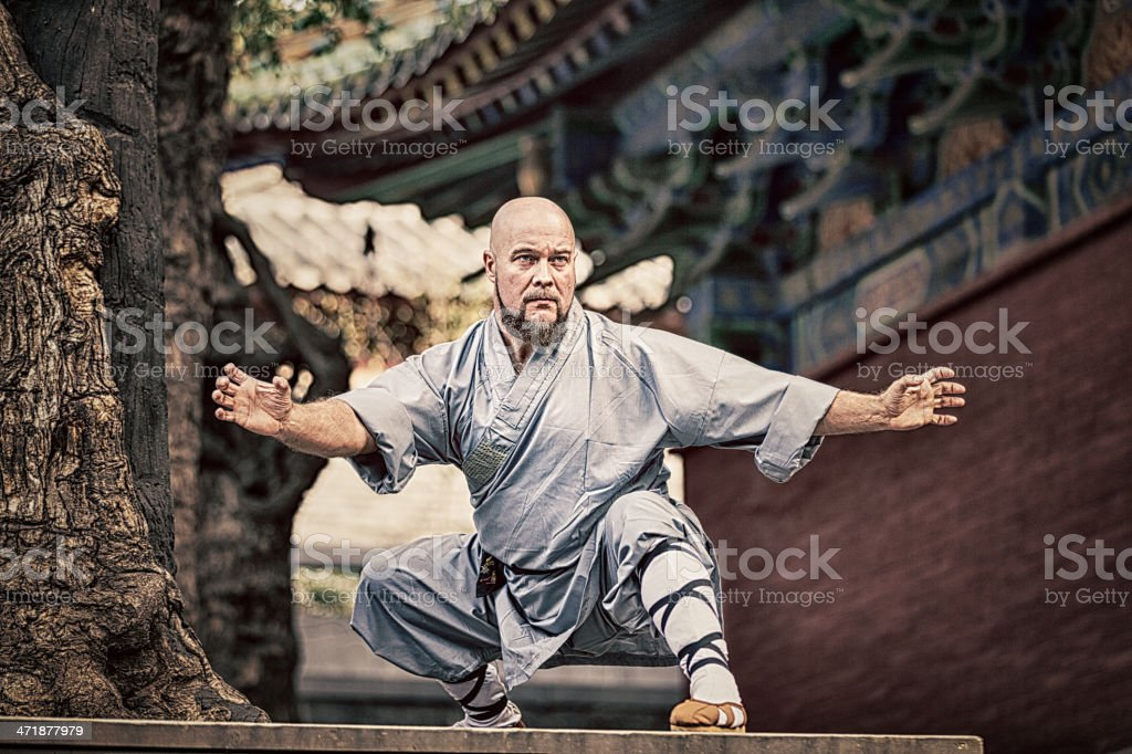 Shaolin monk stock photo