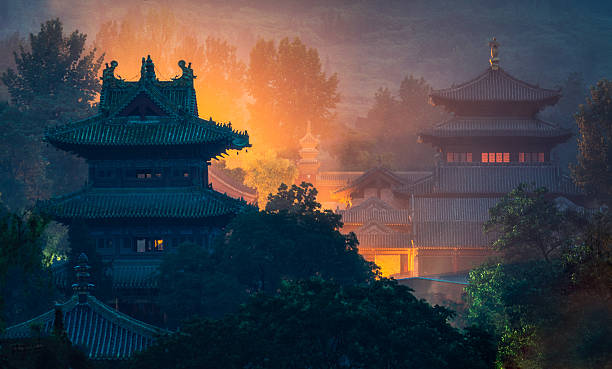 Shaolin temple Shaolin temple in Hunan province, China pagoda stock pictures, royalty-free photos & images