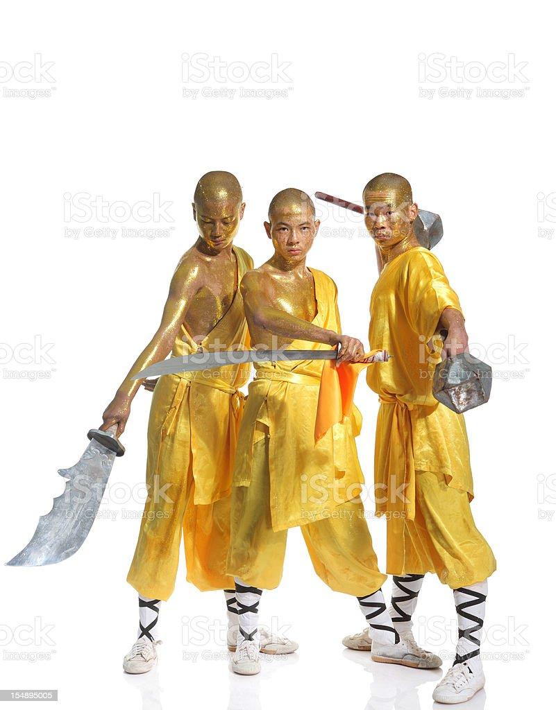 Shaolin warrior monk royalty-free stock photo