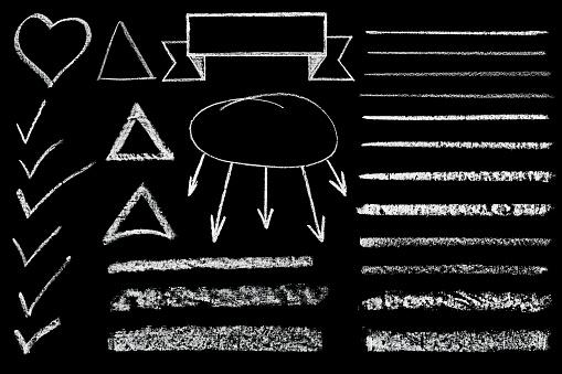 istock shape drawn in chalk 836393678