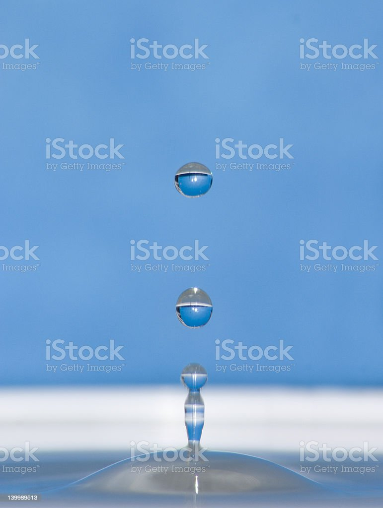 shape od water drops royalty-free stock photo
