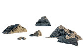 Shape of big rocks on background