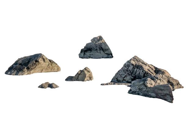 Shape of big rocks on background Shape of big rocks on white background rock object stock pictures, royalty-free photos & images