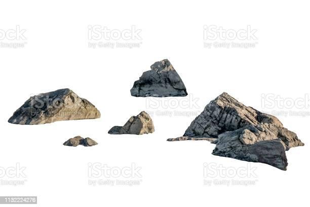 Photo of Shape of big rocks on background