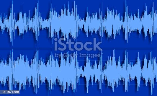 istock Shape of sound waves 921571838