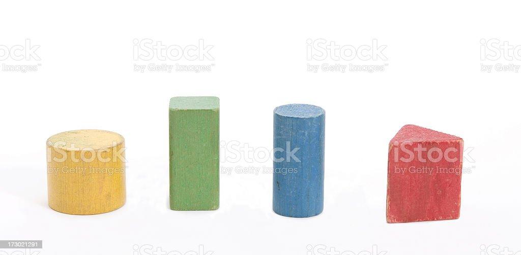 shaped blocks stock photo