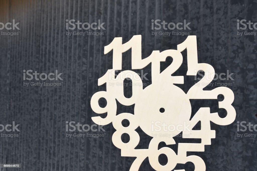 shaped clock Creation stock photo