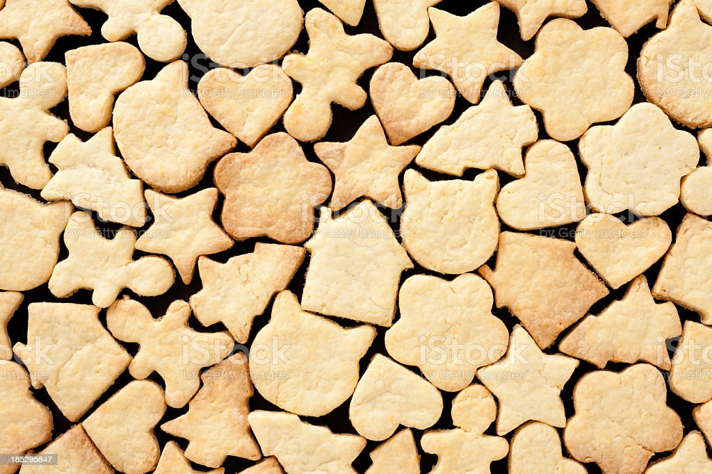Shaped cookies background royalty-free stock photo