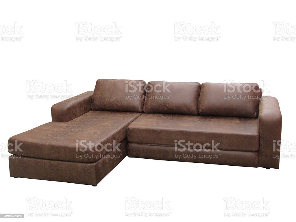 Picture of: L Shaped Luxury Sofa Dark Brown Color Stock Photo Download Image Now Istock