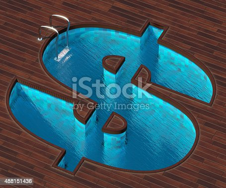 istock Shaped pool dollar 488151436