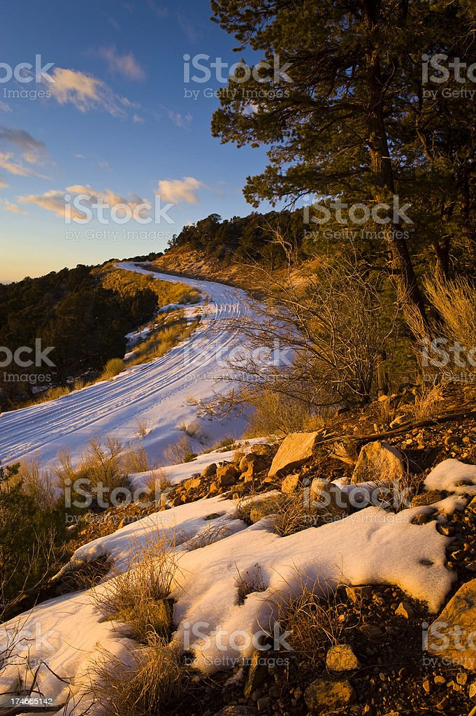 S Shaped Road Landscape Scenic at Sunset in Moab Utah royalty-free stock photo