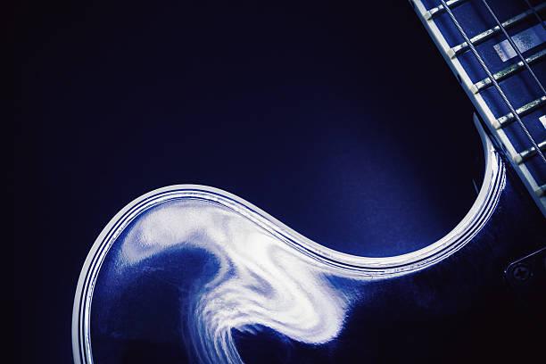 shapes of an electric guitar - blues stock-fotos und bilder