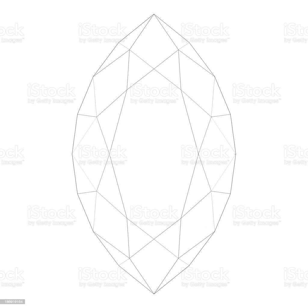 Shapes of diamond stock photo