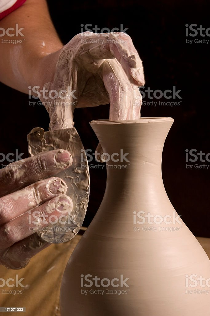 Shaping the Neck royalty-free stock photo