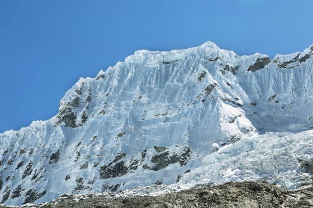 Shapraraju peak from Laguna 69 trail, Peru stock photo