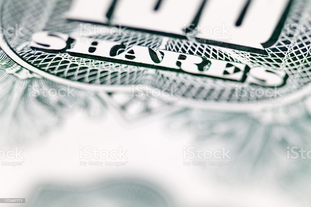 Share Certificate royalty-free stock photo