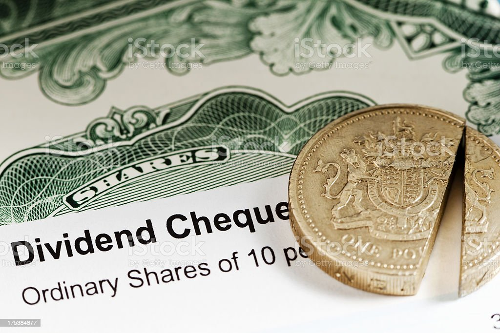 UK Share Dividend stock photo