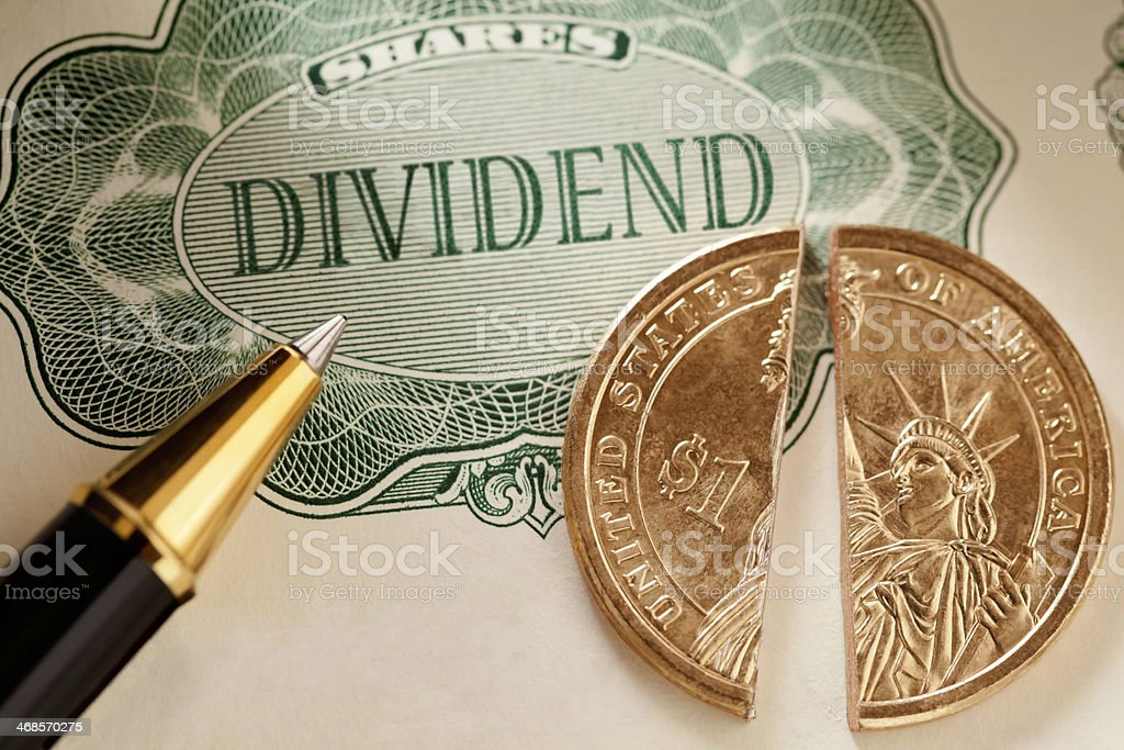 Share Dividend US Dollar royalty-free stock photo