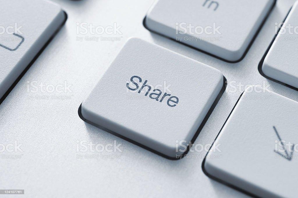 Share Key royalty-free stock photo