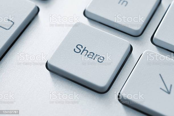 Share Key Stock Photo - Download Image Now