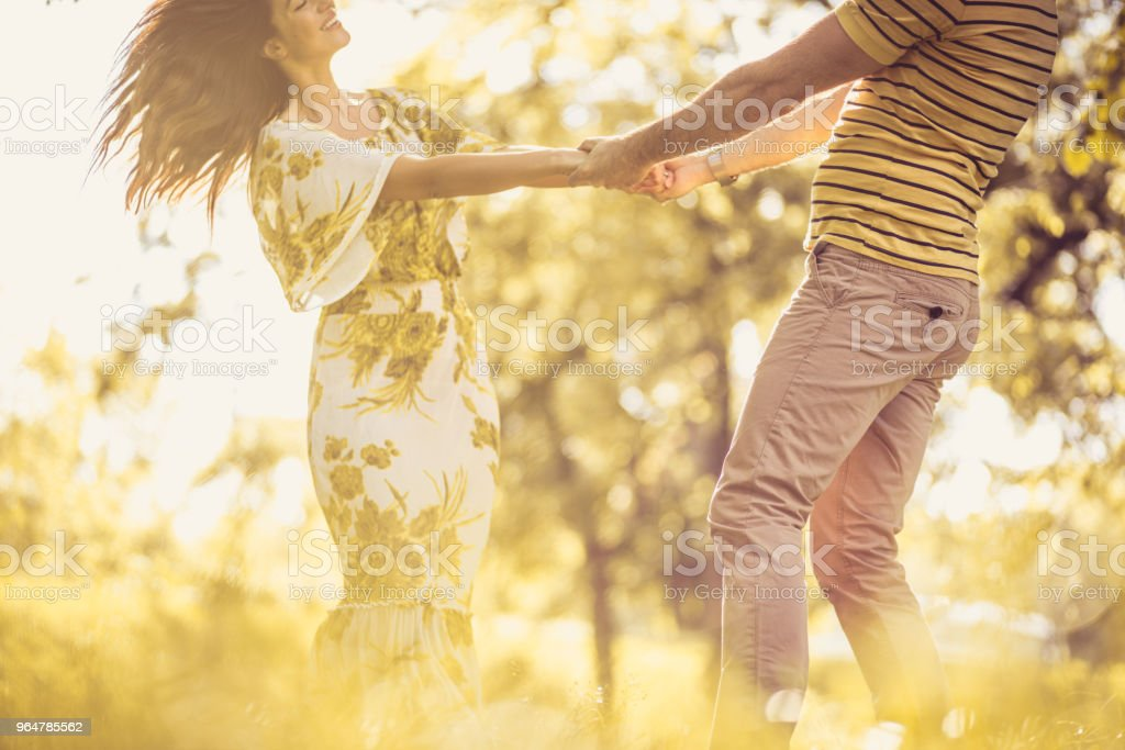 Share love. Couple in nature. royalty-free stock photo