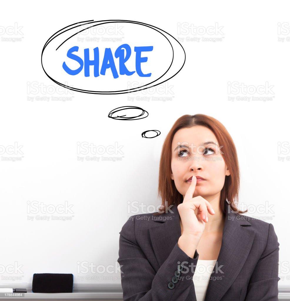 Share royalty-free stock photo