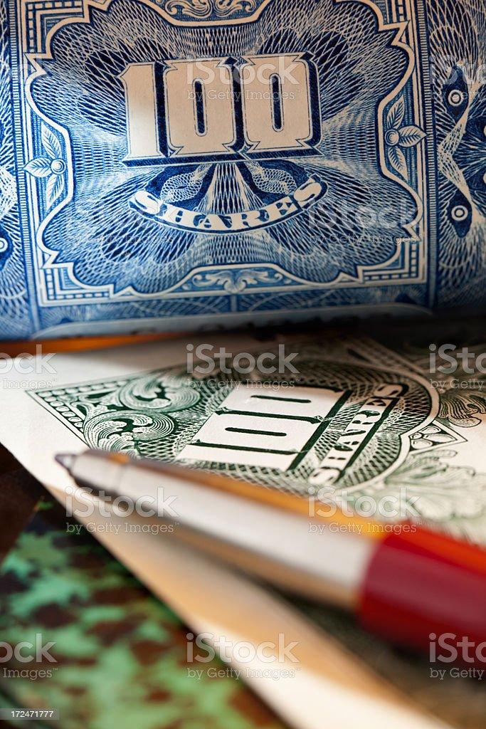 Share Portfolio royalty-free stock photo