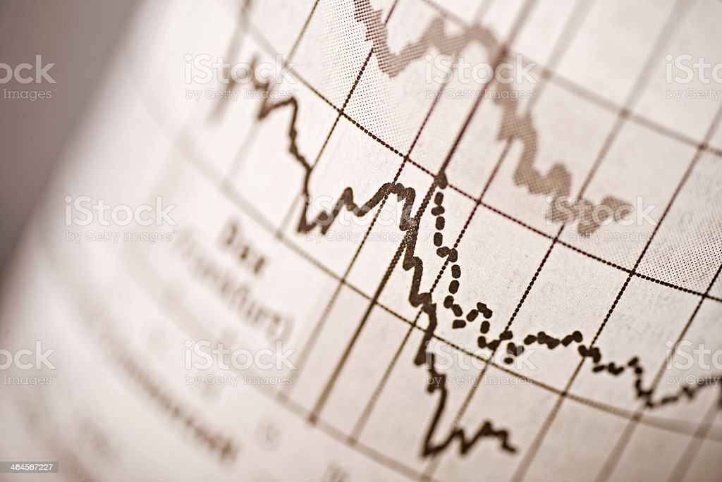 Share prices stock photo