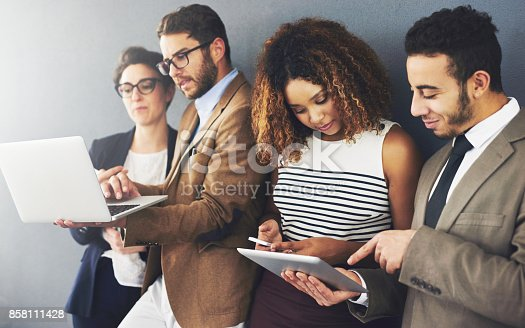 istock Share the info, share the success 858111428