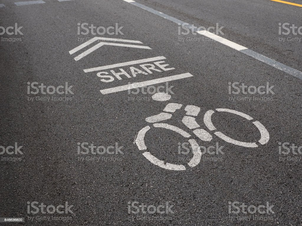 Share the road stock photo