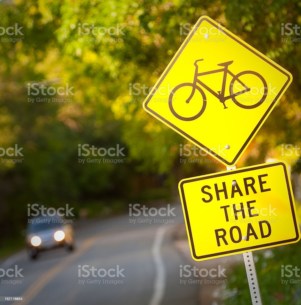 Share the Road street sign stock photo