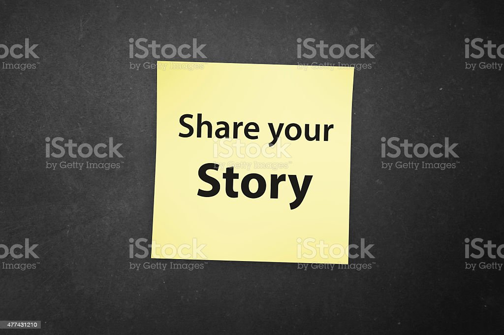 Share your Story! stock photo