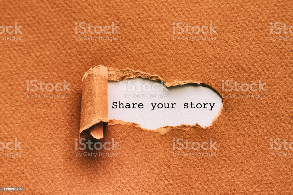 Share your story stock photo