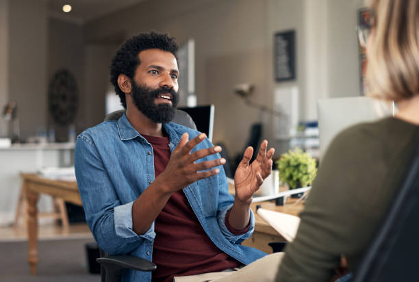 Share your vision with people who'll work to achieve it stock photo