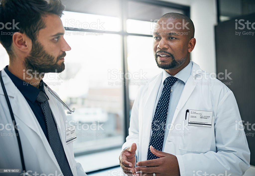 Shared expertise, shared patient success stock photo