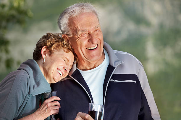 Shared laugh stock photo