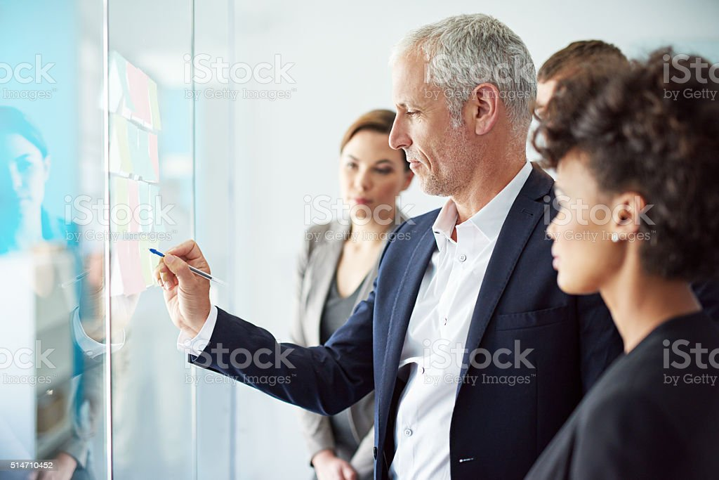 Shared solutions bring shared success stock photo