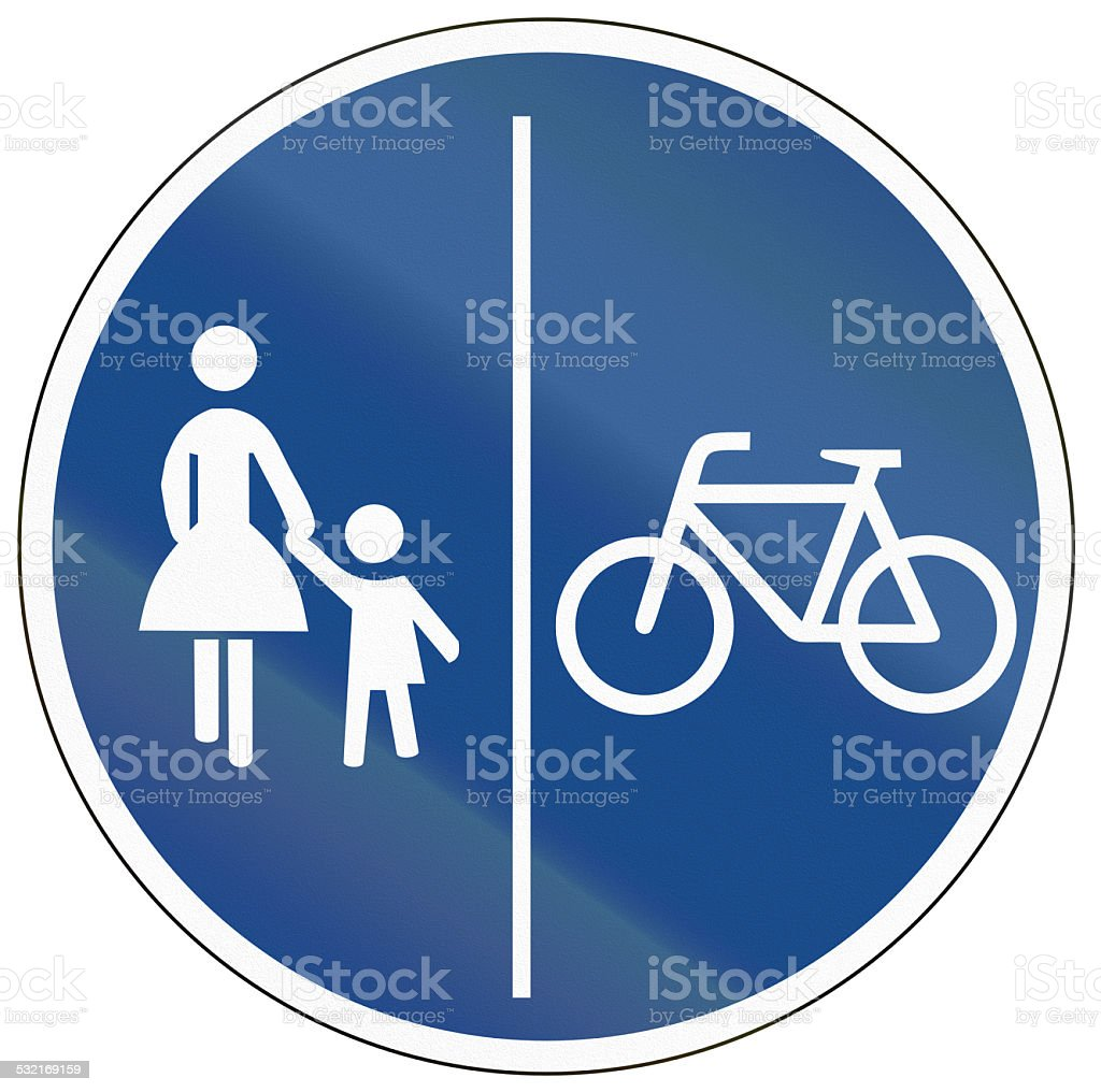 Shared Use Path With Separate Lanes stock photo