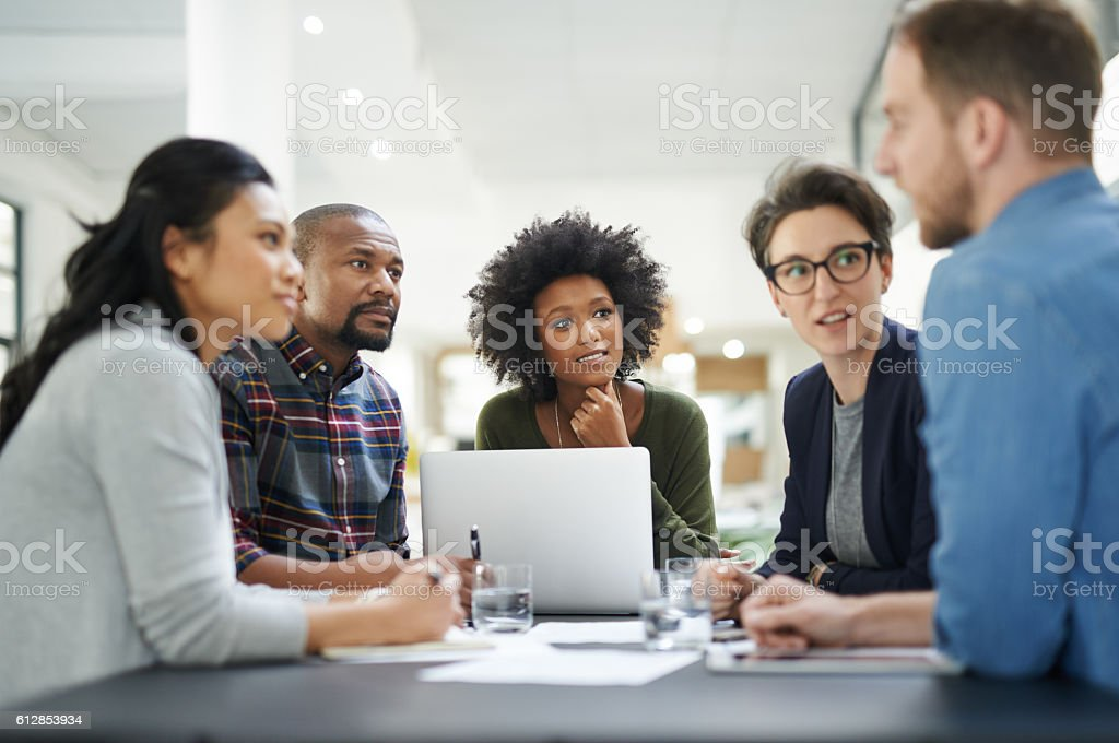 Shared vision, shared success stock photo