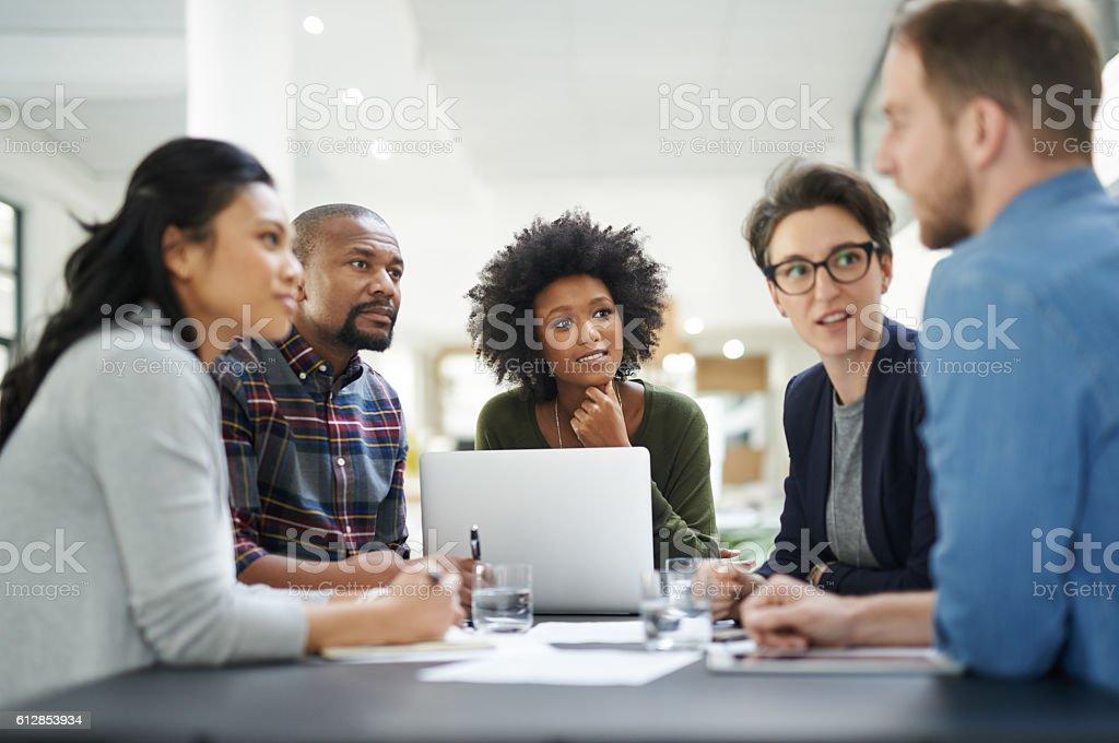 Gemeinsame vision, gemeinsamer Erfolg – Foto