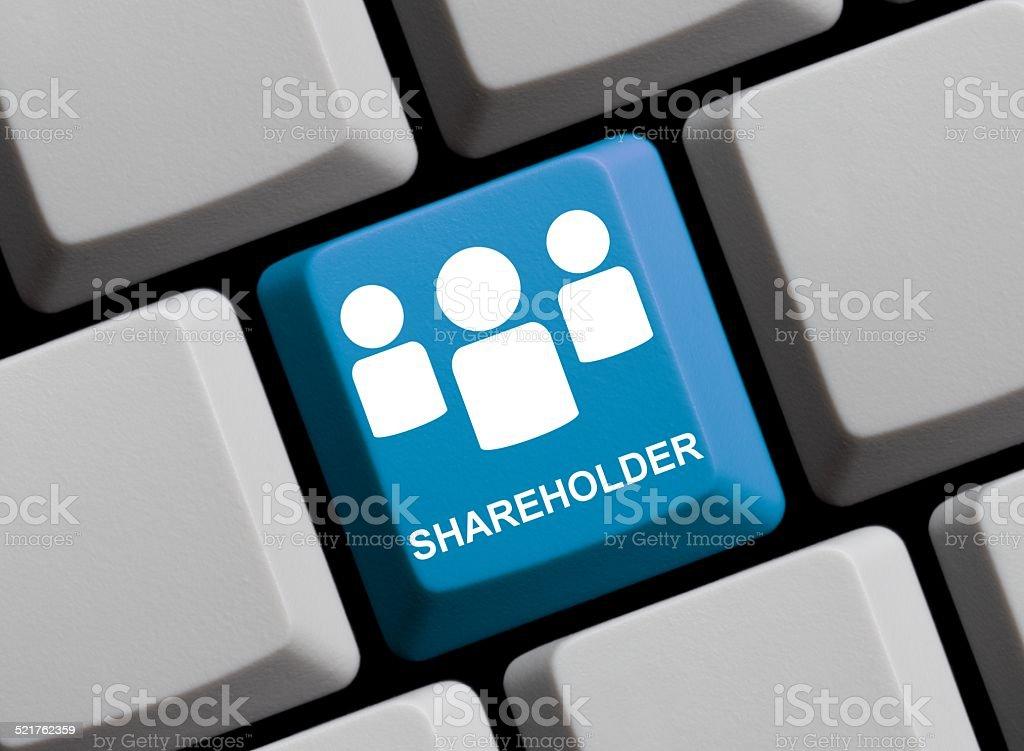 Shareholder online stock photo