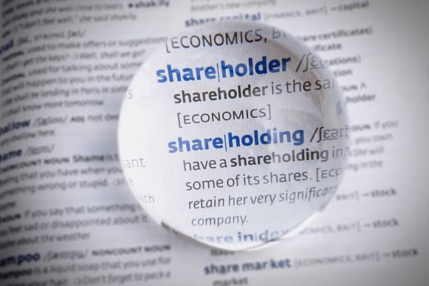 Per gli azionisti - foto stock