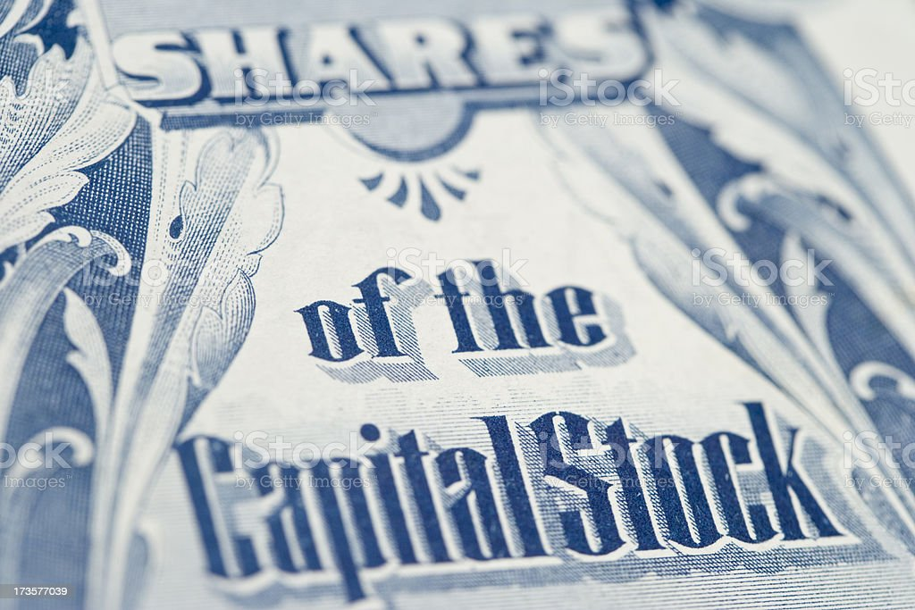 Shares of Stock royalty-free stock photo